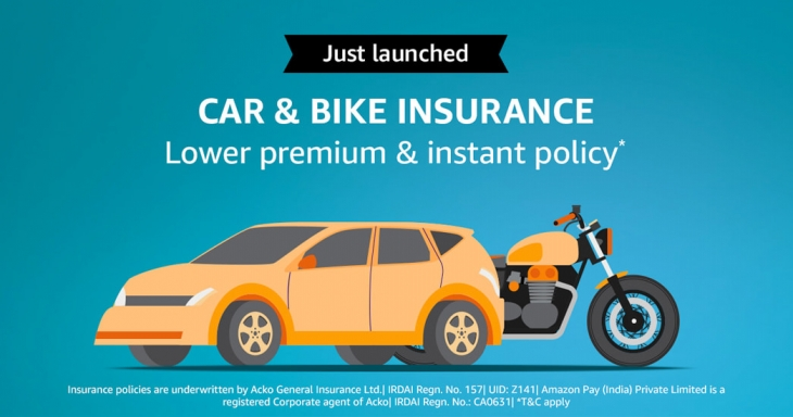Now get Car or Bike Insurance within 2 minutes from Amazon Pay: Extra benefits for Prime users